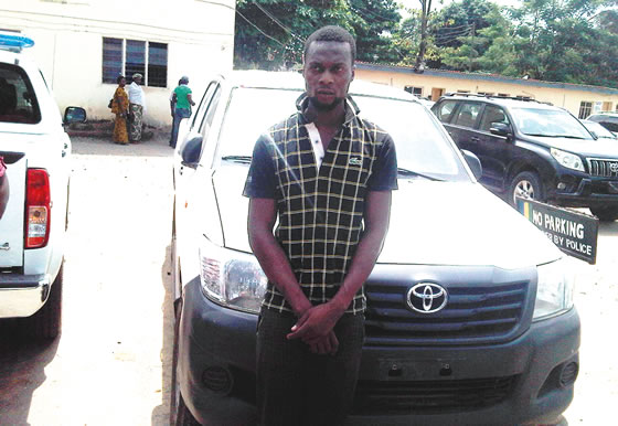 Driver Eneche Flees With Company's Car After N25,000 Deductions From His Salary (Picture)