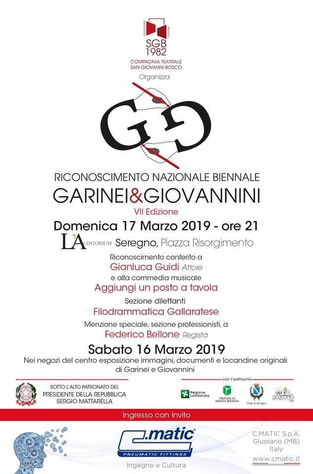 Riconoscimento Nazionale Biennale Garinei & Giovannini