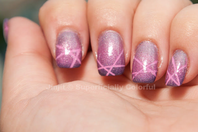 China Glaze - Dance Baby, A-England - Princess Tears, Chic - Pinkish Metalix, A-England - Lady Of The Lake