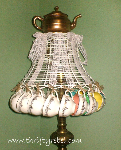 My Teacup Lamp was Featured on Country Living's Site - Teacup Craft Ideas