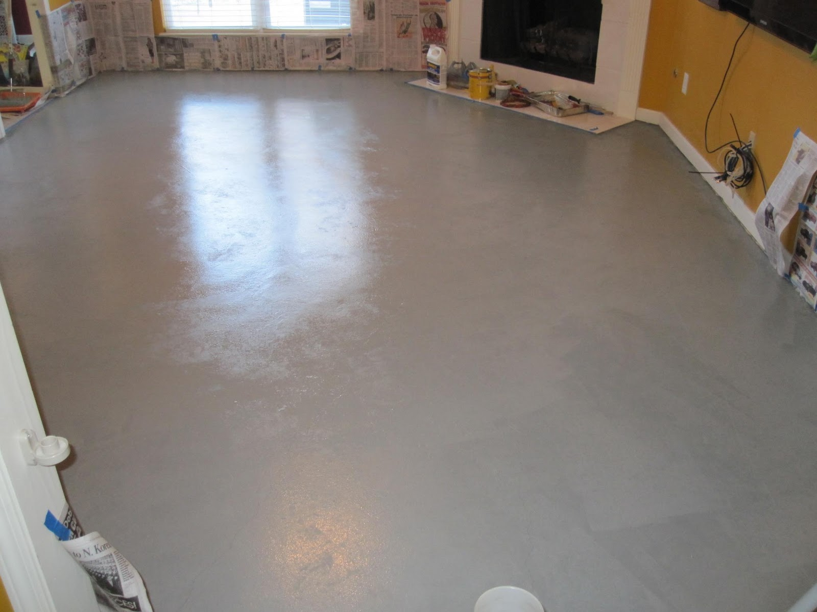 Raising royalty painted concrete floors are beautiful for How to clean unsealed concrete floors