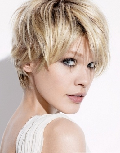 Short Choppy Layered Haircut 2014
