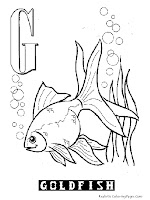 Animal Alphabet G Goldfish