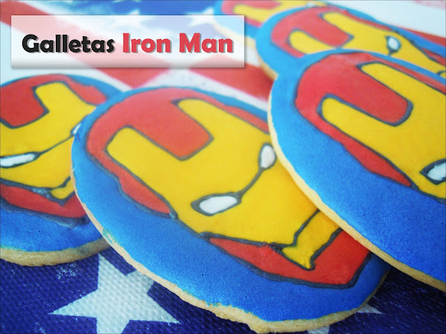 Galletas decoradas: Galletas de Iron Man