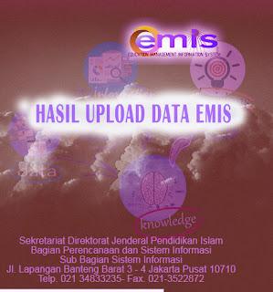 Hasil Upload EMIS Semester Ganjil 2015-2016