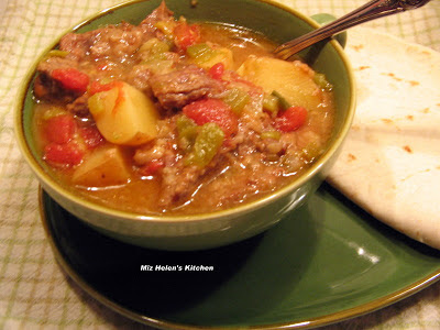 Slow Cooker Green Chili Stew