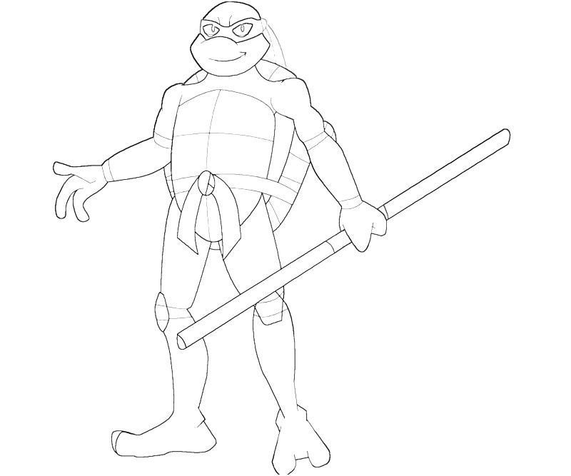 Free coloring pages of donatello