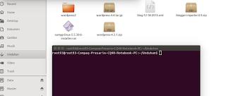 proses pemidahan folder wordpress dari terminal