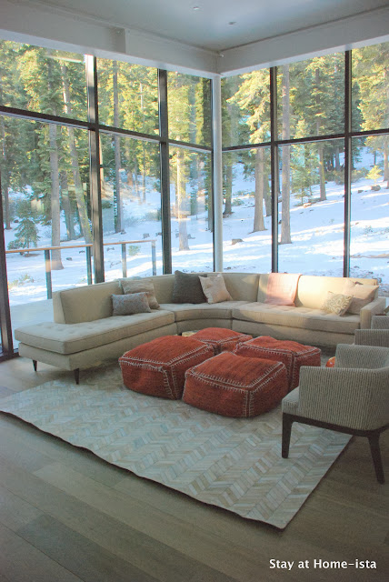 Stayathomeista Modern Vacation House living room reveal