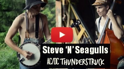 watch steve n seagulls Finnish Band recreate the Ac/Dc's popular track Thunderstruck via geniushowto.blogspot.com music video