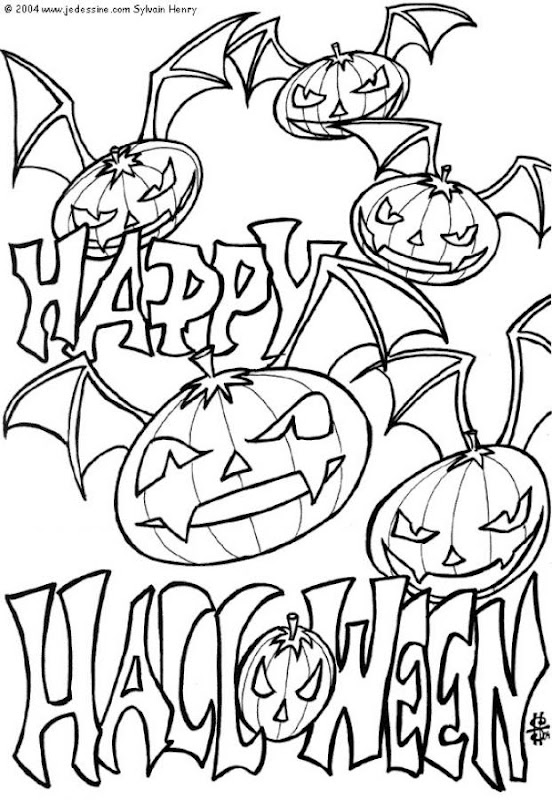 halloween pumpkin coloring pages kids title=