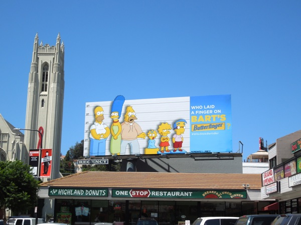 The Simpsons Butterfinger billboard