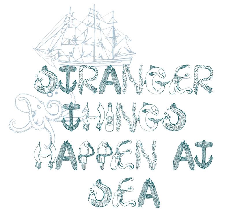 Seaside Style Nautical Typography