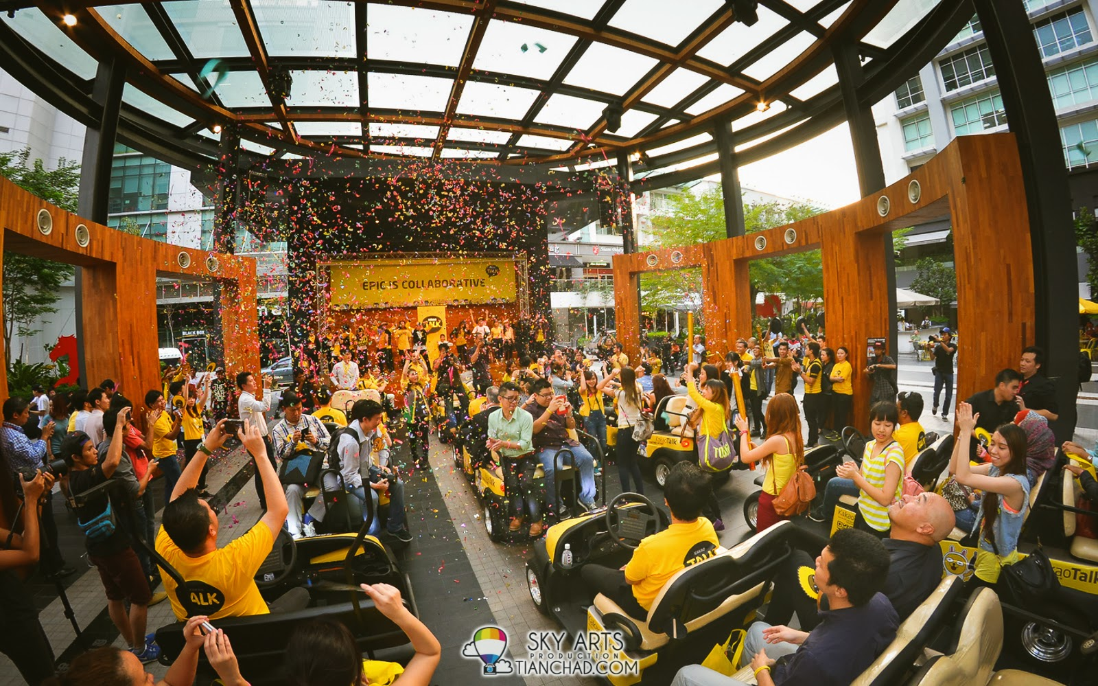 Showered by confetti at the last epic KakaoTalk station
