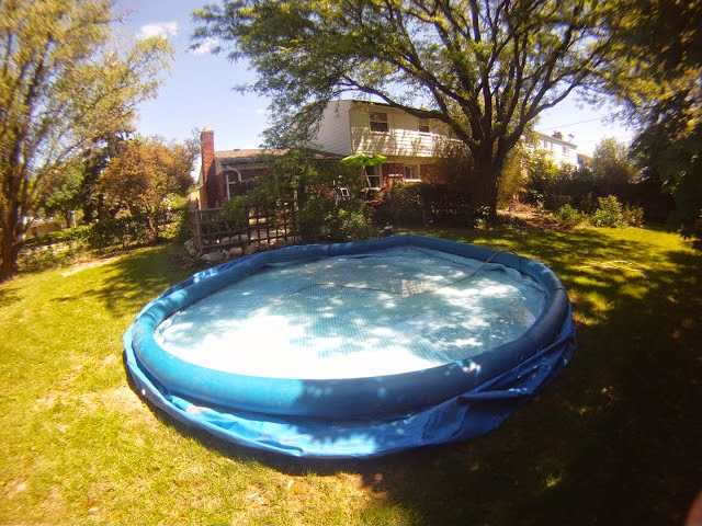 fill up, inflate, intex pool, bubble pool, rubber, amount of water, time