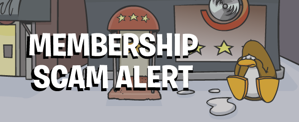 Club Penguin Membership Alert