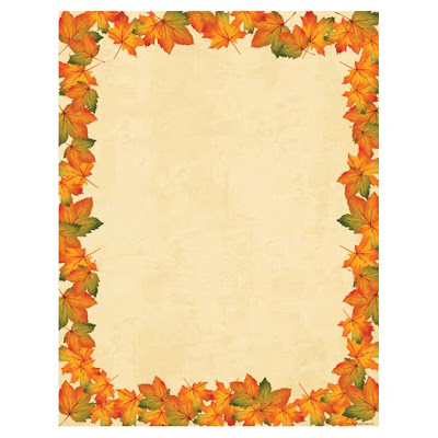 Painted Maple Fall Leaves Thanksgiving Autumn Laser Paper