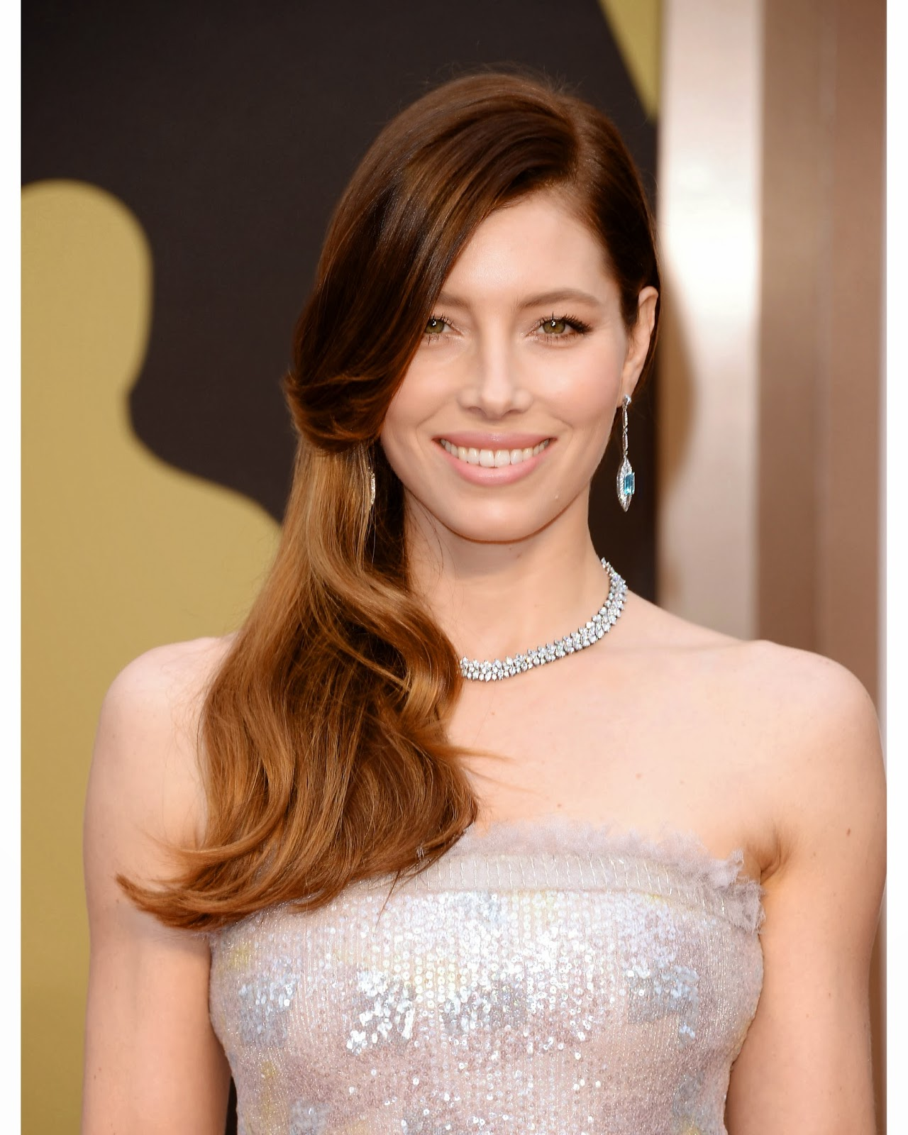 JESSICA BIEL AT THE 86TH ACADEMY AWARDS