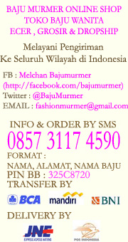 Bajumurmer.com Toko Baju Online Jual Atasan Wanita Dress Ecer Grosir Reseller Murah