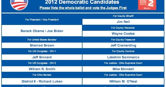 The Daily Bellwether: 2012 Hamilton County Ohio Democratic Party ...