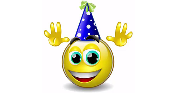 Happy birthday talking smiley facebook symbols and chat emoticons