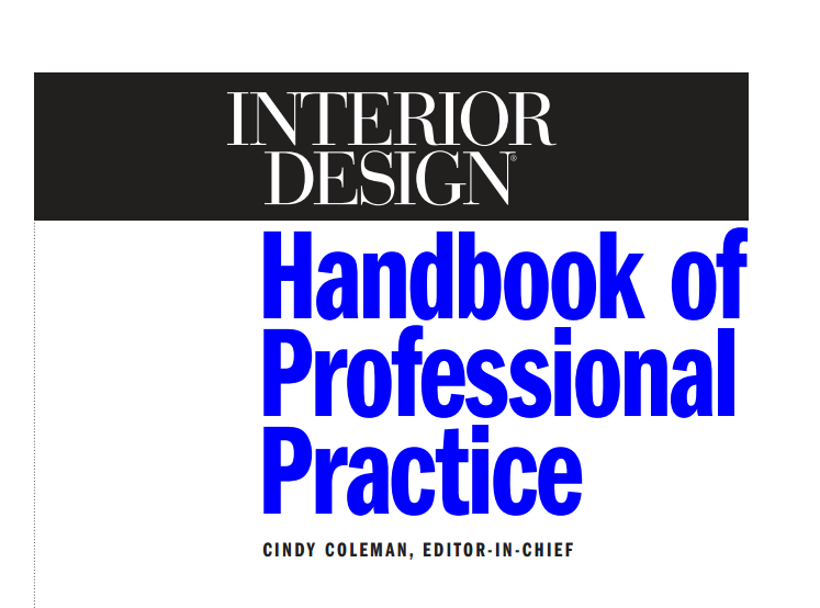 Interior designers handbook for professional practice free for Interior design books