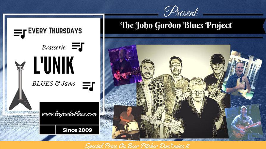 John Gordon Blues Project hosting July 19