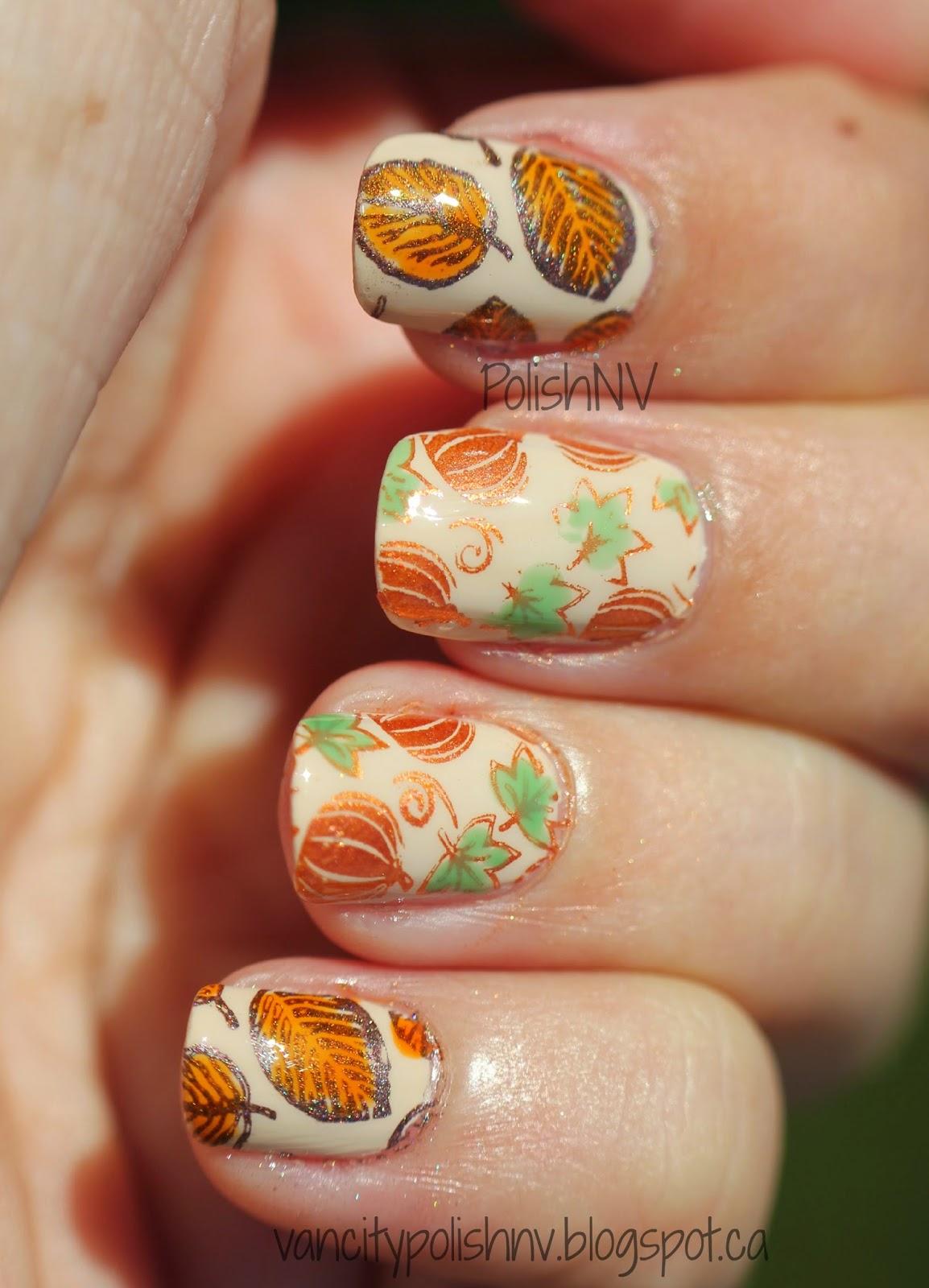 leaf nail stamping