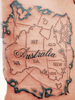 australia map tattoo designs