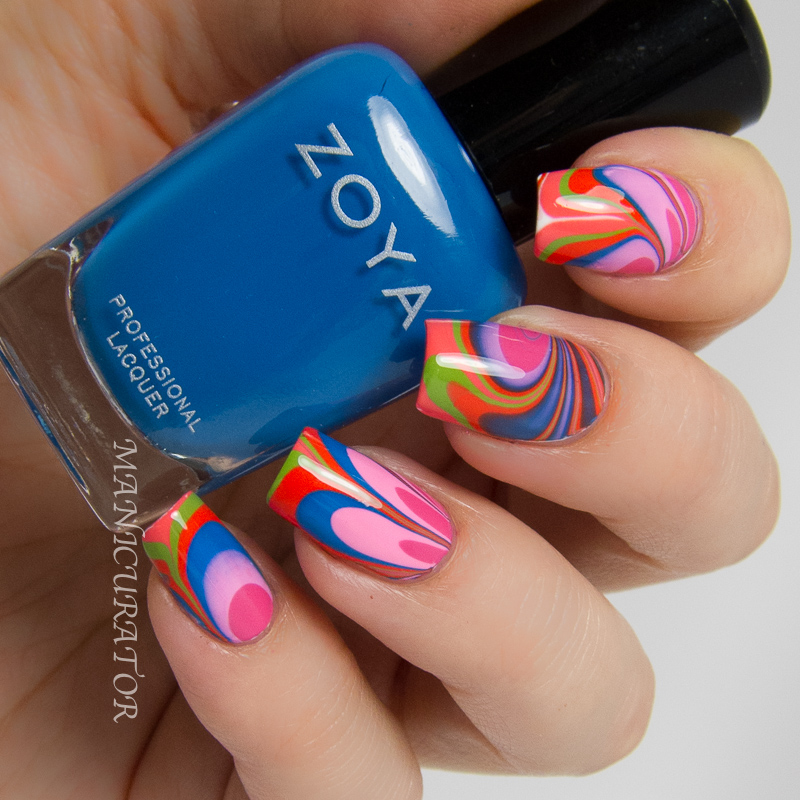 Zoya-Tickled-Watermarble-Nail-Art-Ling