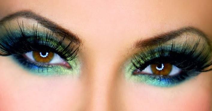 Maquillaje de ojos con extensiones de pestañas