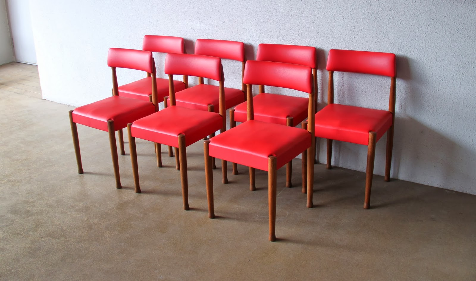 7 Vintage Midcentury Dining Chairs Restored And Reupholstered For
