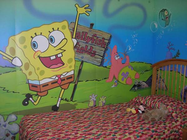 Lukis Dinding Kamar Anak Gambar Kartun Spongebob Squarepants