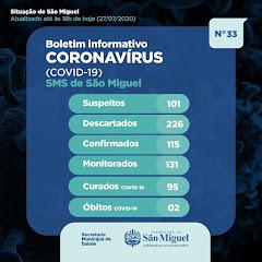 Boletim Epidemiológico 33 - São Miguel - RN