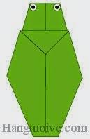 Bước 10: Vẽ mắt để hoàn thành con bọ cam bằng giấy theo phong cách origami.