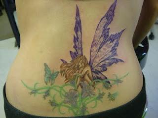 Lower Back Fairy Angel Tattoo Design
