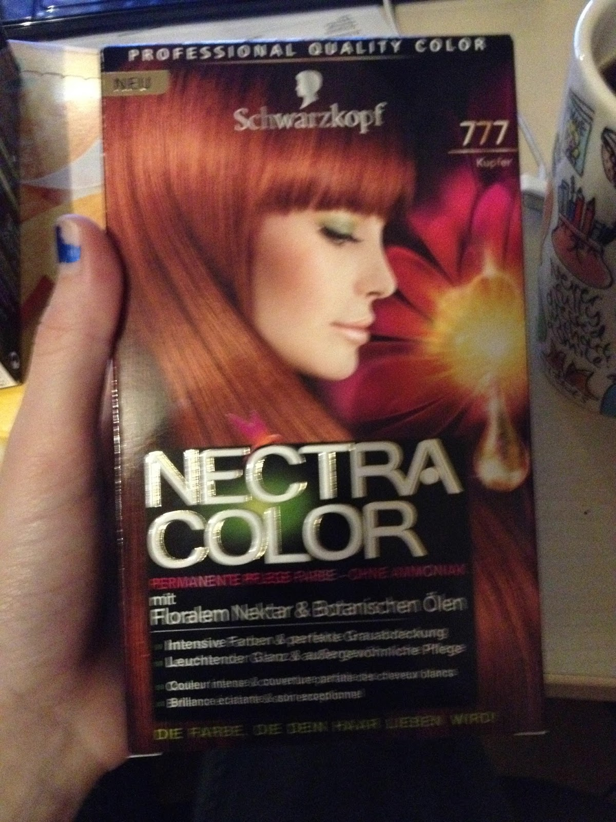 Haare kupfer gefarbt