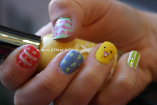 pâques, ongles, nail art, easter, lapins, oeufs, chick, poussins, bunny, pastel, design