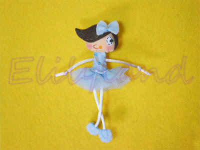 Mini-Elily Bailarina Azul Fieltro