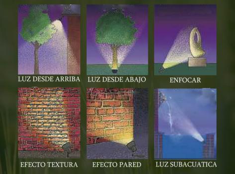 Los elementos de un jard n iluminaci n de exteriores y for Iluminacion arboles jardin