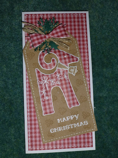 Woodware Rudolf tag card