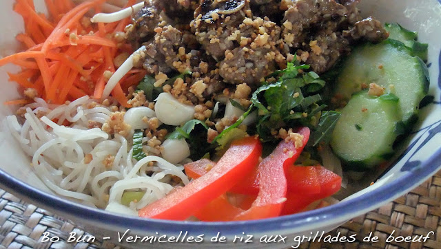 Bo Bun -vermicelles de riz au boeuf
