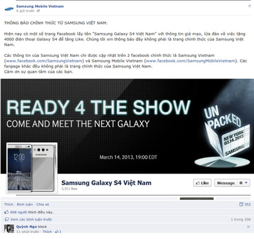 SAMSUNG GALAXY S4 VIETNAM MOBILE
