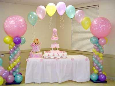decoracion de globos para bautizo: