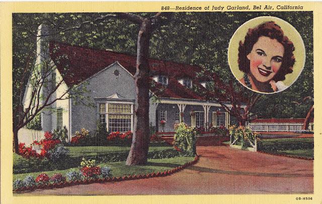 The cedar chest antique postcards vintage photographs Homes of hollywood stars photos