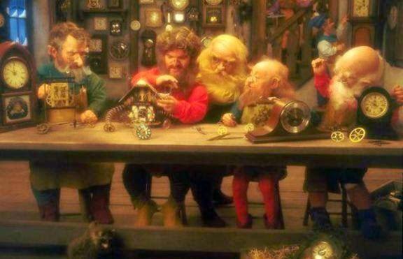 Имената на джуджетата - помощници на дядо Коледа