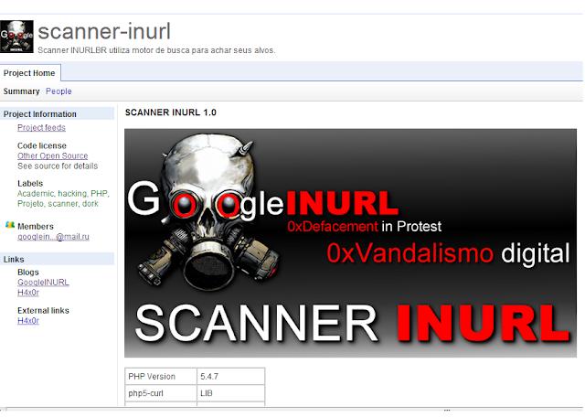 Repositório oficial do SCANNER INURL