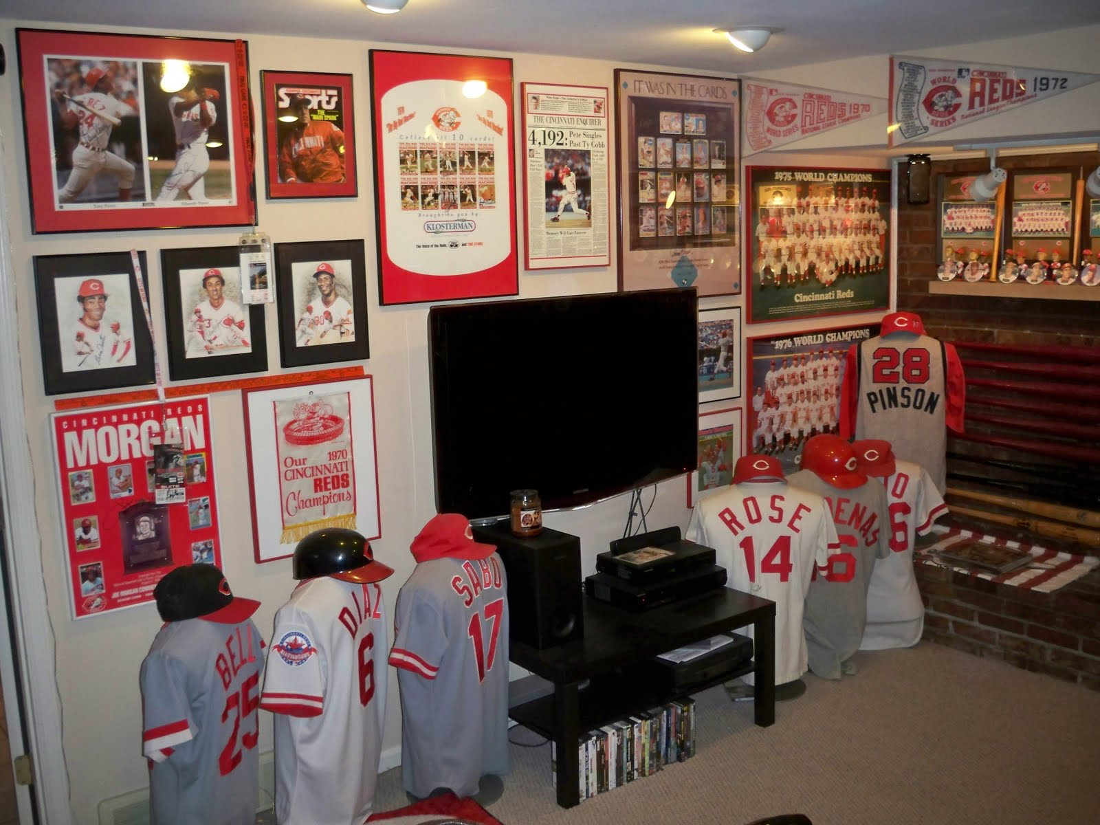 Cincinnati Reds Baseball Card Collector Ultimate Room