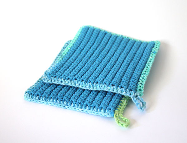 Crocheted Potholders Using Cotton Yarn