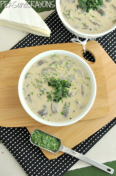 Creamy Mushroom Brie and White Bean Soup